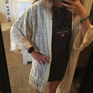 american eagle lace kimono cardigan